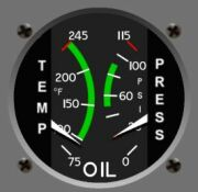 OIL  gauge Cessna